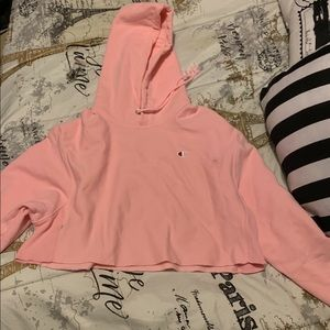Champion cropped hoodie size medium